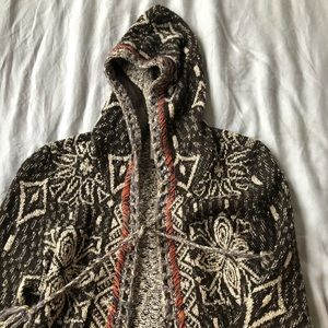 Free people aztec coat with ties